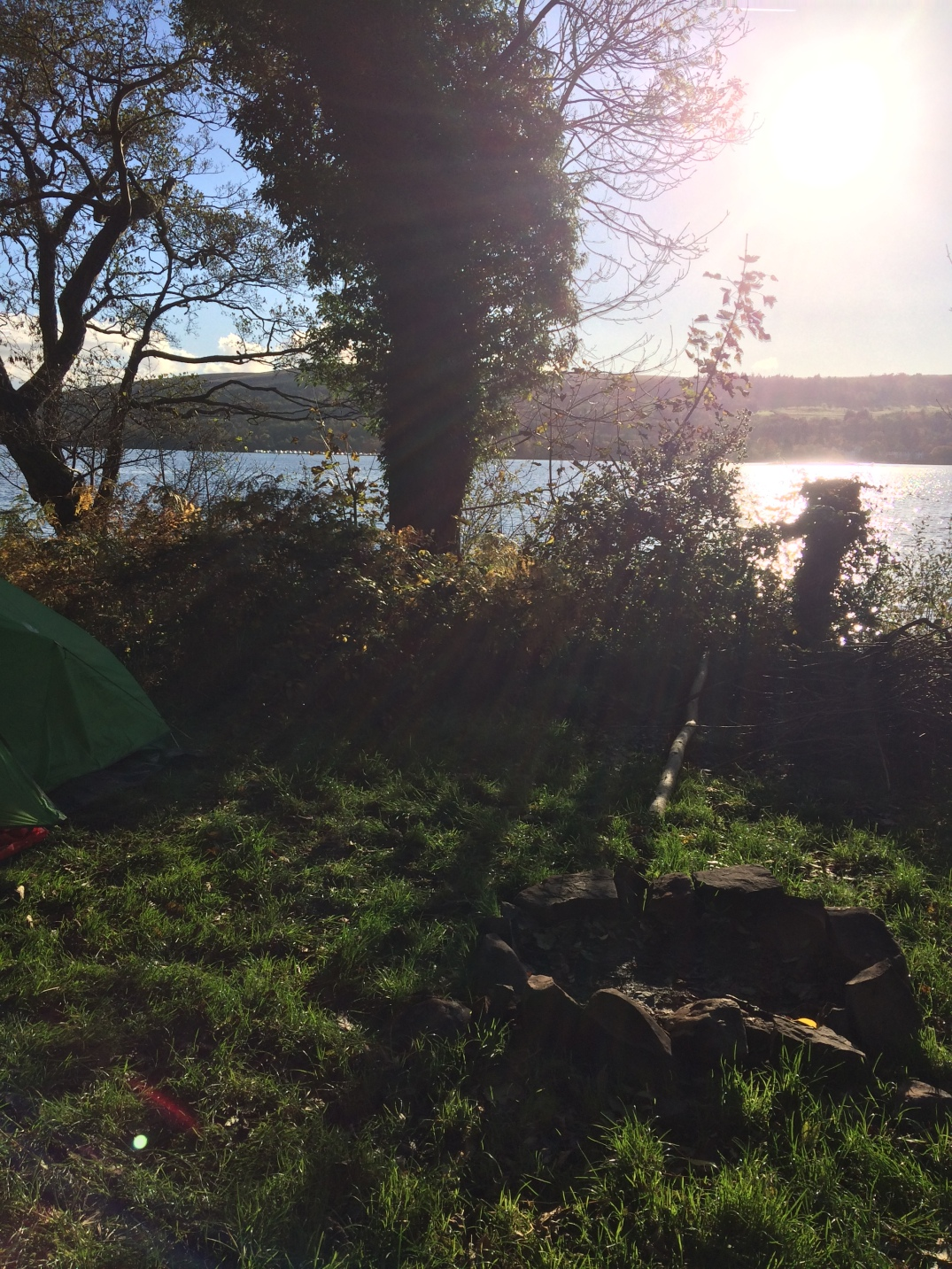 camping by Loch Lomond